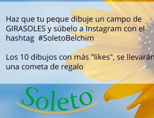 Concurso en Instagram de girasoles para los más pequeños #SoletoBelchim